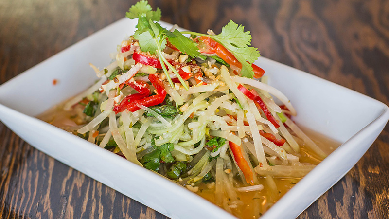 Chilled Papaya and Mango Salad